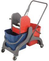 Пластмасова количка за почистване с две ведра и преса  От Катрин Макс ООД